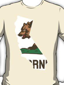California Flag [Wht] | State Line | SteezeFSC T-Shirt