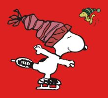 Snoopy Skating One Piece - Short Sleeve