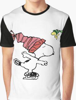 Snoopy Skating Graphic T-Shirt