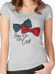 Bowties are cool! Women's Fitted Scoop T-Shirt