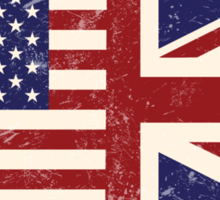 Anglo American Flag Sticker
