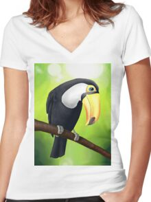 Toucan Women's Fitted V-Neck T-Shirt