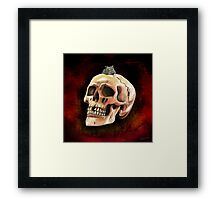 Cracked skull with mouse Framed Print