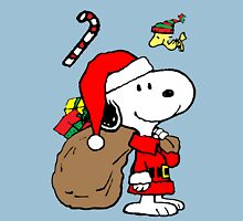 Snoopy Claus is Coming Unisex T-Shirt