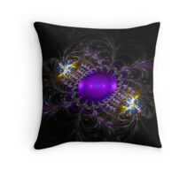 Guarded Gem Throw Pillow