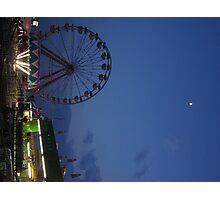 Amusement Park At Night Photographic Print