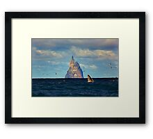 The Whale Shot Framed Print