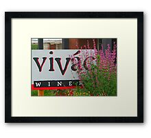 Vivac Winery Framed Print