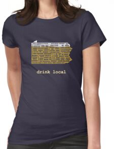 Drink Local (PA) Womens Fitted T-Shirt