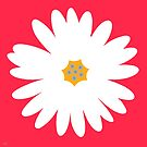 white daisy red by hennydesigns
