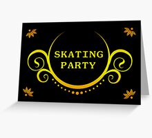 skating party Greeting Card