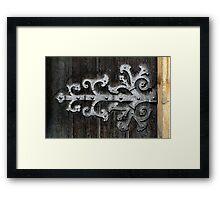 Gothic Hinge Framed Print