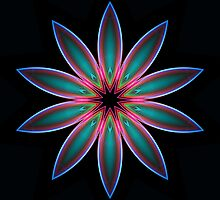 Flame 2 Color Flower Kaleidoscope 01 by fantasytripp