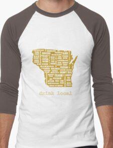 Drink Local (WI) Men's Baseball ¾ T-Shirt