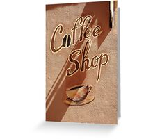 Coffee Shop Greeting Card