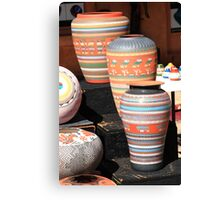 Santa Fe Pottery Canvas Print