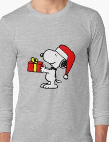 Snoopy has a Present Long Sleeve T-Shirt