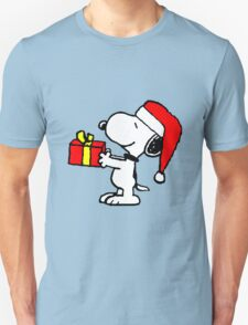 Snoopy has a Present Unisex T-Shirt