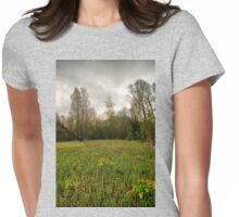 Birches,reeds and kingcups HDR Womens Fitted T-Shirt