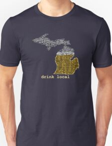 Drink Local (MI) (with Outline) T-Shirt