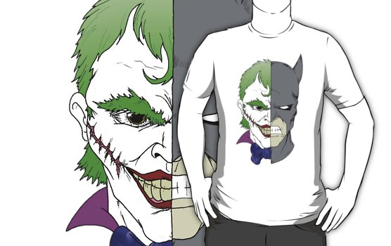 Joker side of Batman by Skree