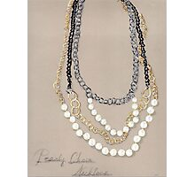 Pearl Necklace Photographic Print