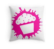 cupcake splats Throw Pillow