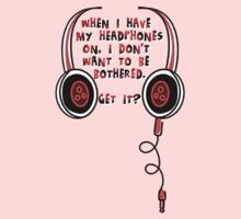 Wearing Headphones (RED) Kids Clothes