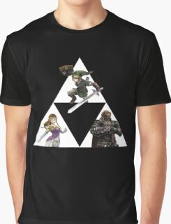 Link, Zelda, and Ganondorf Graphic T-Shirt