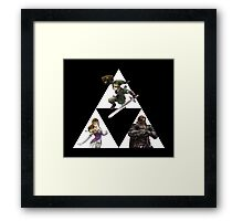 Link, Zelda, and Ganondorf Framed Print