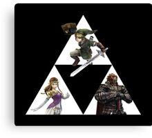 Link, Zelda, and Ganondorf Canvas Print