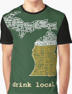 Drink Local (MI) Graphic T-Shirt