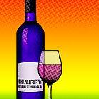 birthday bottle of wine by maydaze