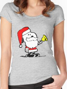 Snoopy Xmas Women's Fitted Scoop T-Shirt