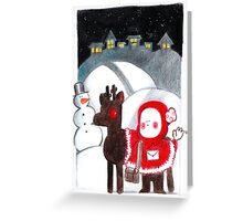 christmas friend!!!!!!! Greeting Card