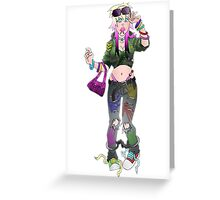 Punk Chick Greeting Card