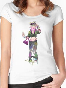 Punk Chick Women's Fitted Scoop T-Shirt