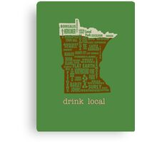 MN Drink Local Canvas Print
