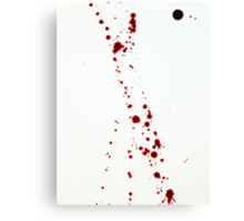 Blood Spatter 4 Canvas Print