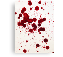 Blood Spatter 7 Canvas Print