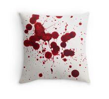 Blood Spatter 7 Throw Pillow