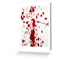 Blood Spatter 12 Greeting Card