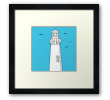 Lighthouse and seagulls 2 Framed Print