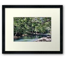 Winter on the Rous River .. Framed Print
