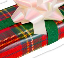 Wrapped Gift With Tartan Paper Sticker
