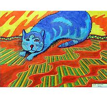 384 - SNARFE IN BLUE - DAVE EDWARDS - COLOURED PENCILS - 2013 Photographic Print