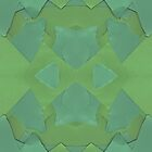 Ripped Green Paper Patterns by limeleaf