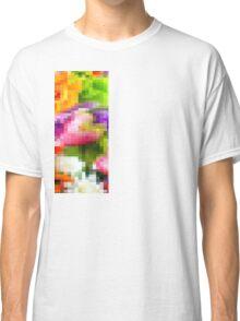 Pixelated Flowers Design Classic T-Shirt