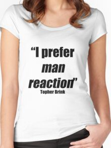 Man reaction Women's Fitted Scoop T-Shirt