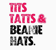 TITS TATTS & BEANIE HATS  Womens Fitted T-Shirt